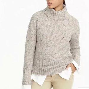 J.Crew mockneck sweater Italian yarn oatmeal large